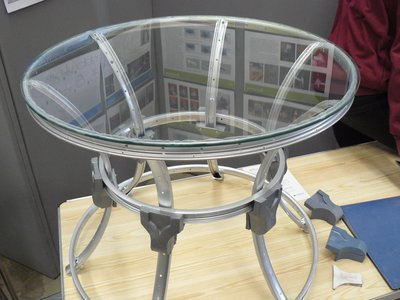 picture of Table Made From Recycled Bike Parts