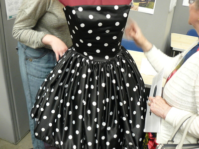 picture of 1960s Swing Polkadot dress