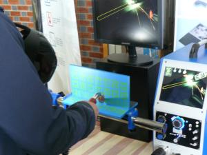 Virtual reality welding demonstration
