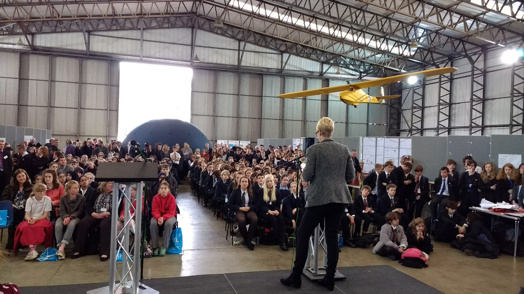 Inspirations 2017 in the T2 hangar at Elvington